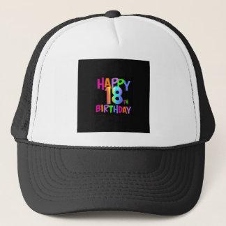 HAPPY 18TH BIRTHDAY MULTI COLOUR TRUCKER HAT