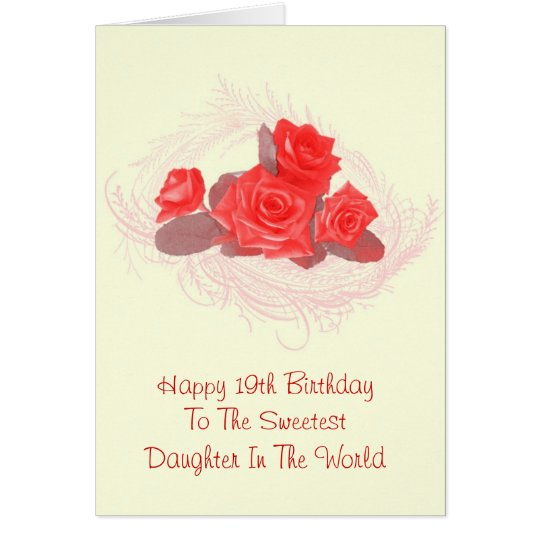 Happy 19th Birthday Card For Daughter