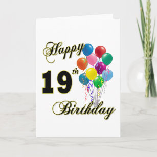 Happy 19th Birthday Merchandise Card