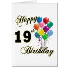 Happy 19th Birthday Merchandise Card