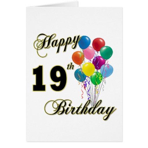 Happy 19th Birthday Merchandise Greeting Card | Zazzle