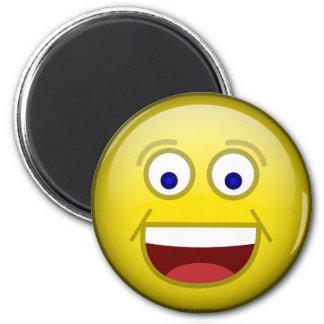 Happy 1 6 cm round magnet