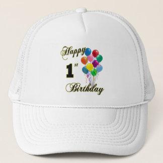 Happy 1st Birthday Baseball Caps and Hats