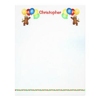 Happy 1st Birthday Bear Scrapbook Paper 3 Flyer