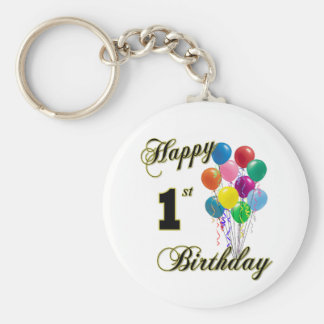 Happy 1st Birthday Key Chain