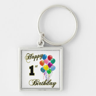 Happy 1st Birthday Keychain