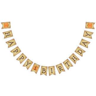 Happy 1st Birthday Pumpkin Bunting