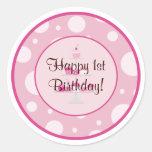 Happy 1st Birthday Sticker