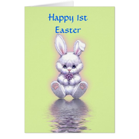 Happy 1st Easter with bunny baby's first easter