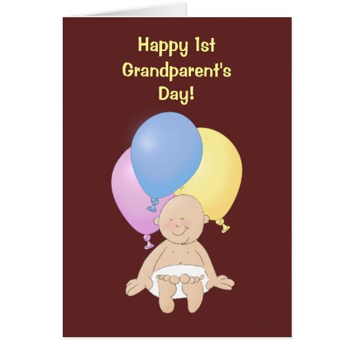 Happy 1st Grandparent's Day! Cards