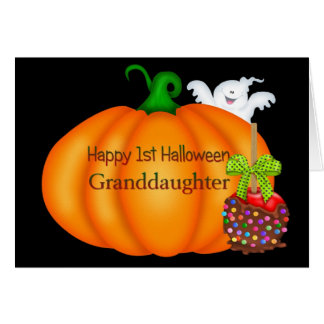 Happy 1st Halloween Granddaughter Greeting Card