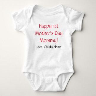Happy 1st Mothers Day Baby Bodysuit