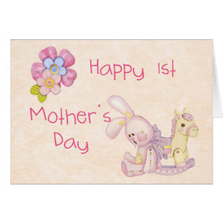 Happy 1st Mother's Day Card Pink