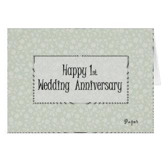 Happy 1st. Wedding Anniversary Greeting Card