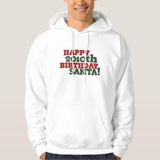 Happy 2010th Birthday Santa Hooded Sweatshirts