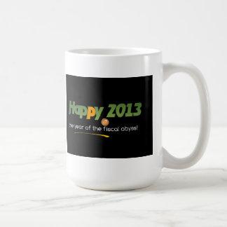 Happy 2013 fiscal cliff mug