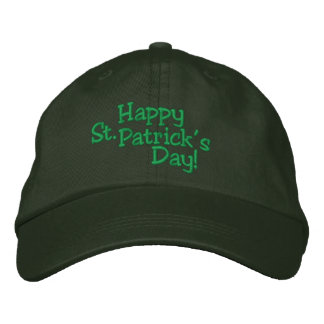 HAPPY 2013 St Patrick s Day HAT Embroidered Hats