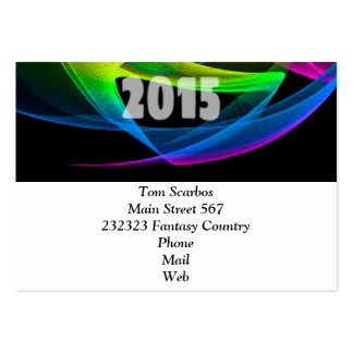 happy 2015 clock business card template