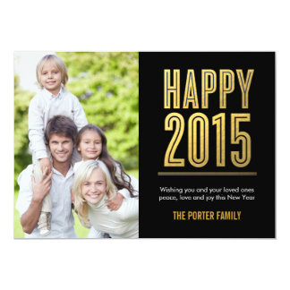 Happy 2015 New Year Holiday Photo Card 13 Cm X 18 Cm Invitation Card