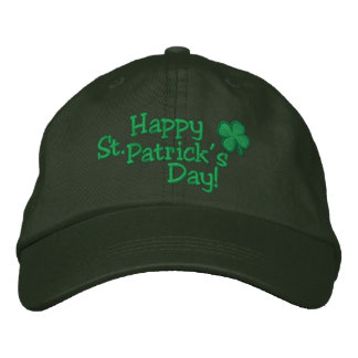 HAPPY 2015 St. Patrick's Day HAT Embroidered Baseball Caps