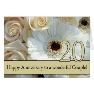 Happy 20th Anniversary roses Greeting Card