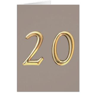 Happy 20th Birthday twenty twentieth 20 20th Card