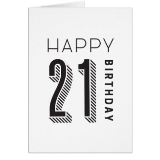 Happy 21 Birthday Card