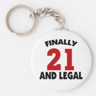 Happy 21 Birthday Keychains