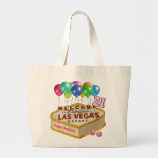 Happy 21 Birthday Las Vegas CAKE Tote Bag