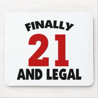 Happy 21 Birthday Mousepads