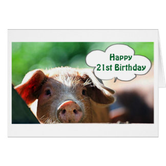 """HAPPY **21st** ADULTHOOD IS SO MUCH """"FUN"""" Card"""