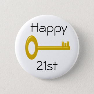 Happy 21st Birthday Badge