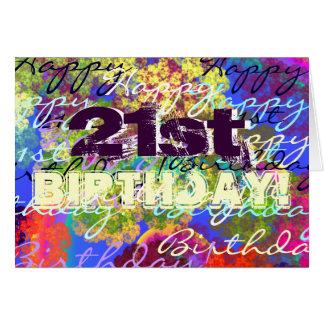 Happy 21st Birthday! Card