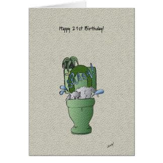 Happy 21st Birthday card! Card