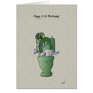 Happy 21st Birthday card! Greeting Card