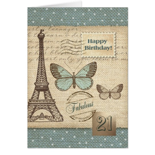 Happy 21st Birthday Customisable Greeting Cards