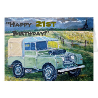 """Happy 21st Birthday!"" Greeting Card"