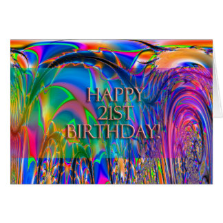 Happy 21st Birthday! Greeting Card
