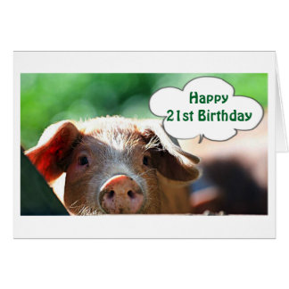 HAPPY **21st** BIRTHDAY LIVE IT UP-I WOULD! Greeting Card