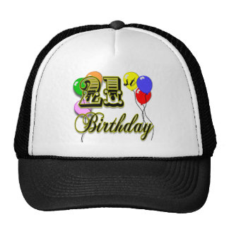 Happy 21st Birthday Merchandise Trucker Hats
