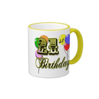 Happy 21st Birthday Merchandise Coffee Mugs
