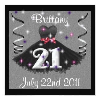 Girls 21st Birthday Party Invitations Announcements Zazzlecouk