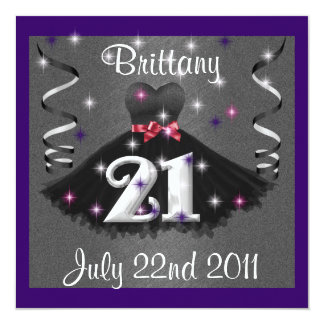 Happy 21st Birthday Party Invitations For Girls