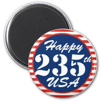 Happy 235th Birthday USA Refrigerator Magnet