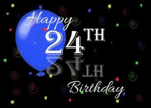 24th birthday cards zazzle uk
