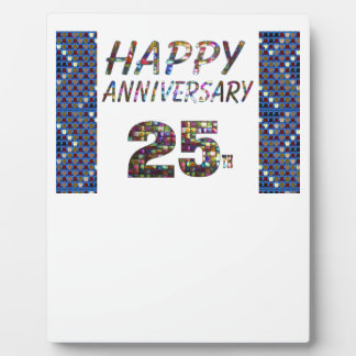 Happy 25 25th Anniversary gifts Display Plaques
