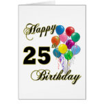 Happy 25th Birthday Gifts with Balloons