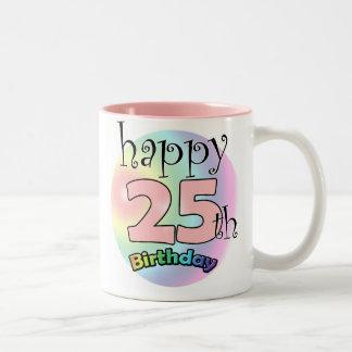 Happy 25th Birthday (pink) Coffee Mugs