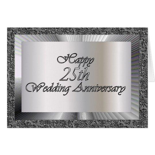 Happy 25th Wedding Anniversary Card