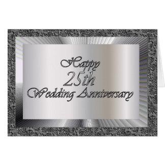 Happy 25th Wedding Anniversary Greeting Card